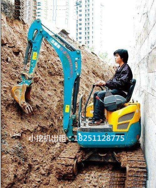 小挖机租赁施工案例