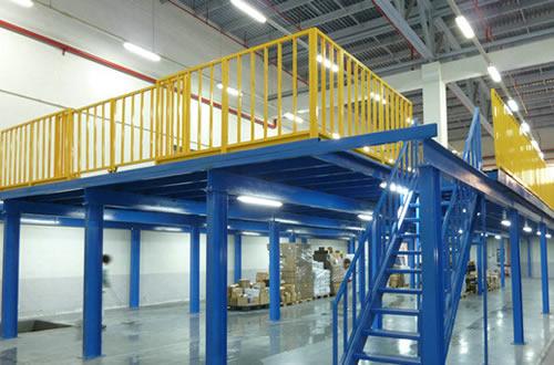 阁楼式货架 钢平台阁楼